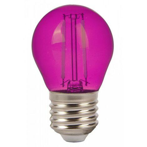 Bombilla led Color Experience G45 E27 2W 300° Azul