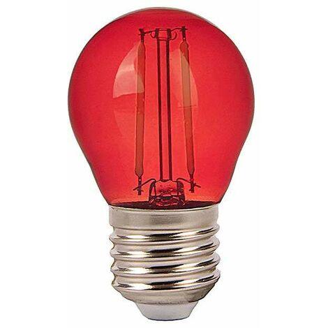Bombilla LED E27 G45 Color Experience 2W- Rojo