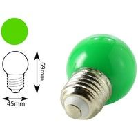 Bombilla LED color verde E27 1W interior decorativa