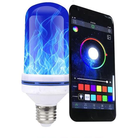 Bombilla LED con efecto de llama y luz decorativa para el hogar E27