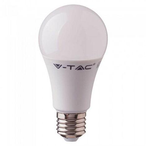 Bombilla LED con sensor de mov. microon+sensor crepusc. A60 E27 9W 200° Temperatura de color - 6400K Blanco frío
