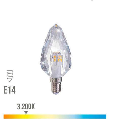 Bombilla Led Cristal E14 3W 300 Lumens 3.200K Luz Calida - NEOFERR
