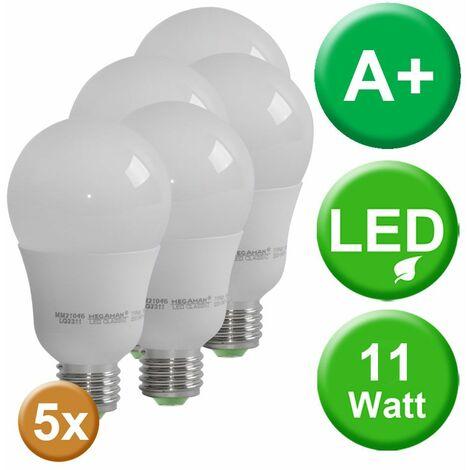 Bombilla LED de 11W Bombilla E27 Iluminación de 2800 Kelvin blanco cálido Bombilla de 105 lúmenes MEGAMAN MM21046