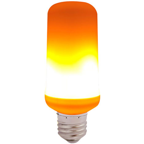 Bombilla LED de Efecto de Llama, E27,Luz amarilla