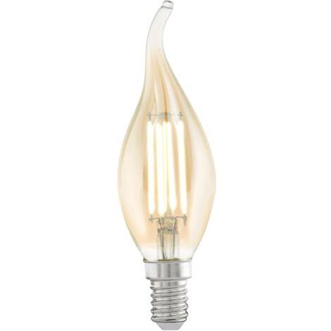 Bombilla LED de estilo vintage EGLO E14 CF37 11559, Color ámbar