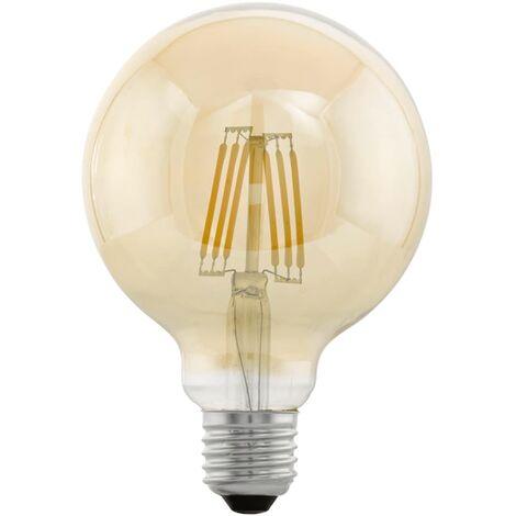 Bombilla LED de estilo vintage EGLO E27 G95 11522, Color ámbar - Transparente