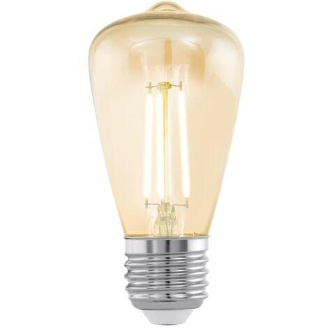 Bombilla LED de estilo vintage EGLO E27 ST48 11553, Color ámbar - Transparente