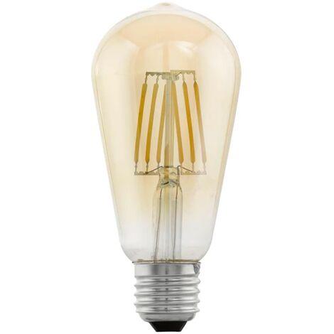 Bombilla LED de estilo vintage EGLO E27 ST64 11521, Ámbar