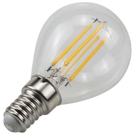 Bombilla LED de filamento E14 G45 4W 350lm 3000K | Blanco Cálido