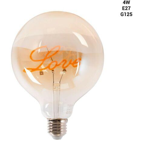 """Bombilla LED de filamento \""""LOVE\"""" G125 2,5W E27"""