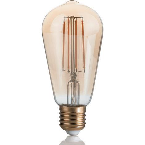 Bombilla Led de luz, de Pera, de estilo Vintage Ideal Lux 4W 2200K E27 151694