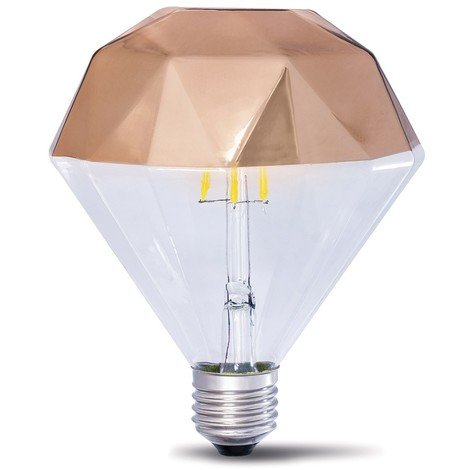 Bombilla LED Decorativa E27 Prisma Cobre (10W)
