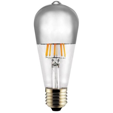 Bombilla LED Decorativa Espejo Plata E27 (8W)