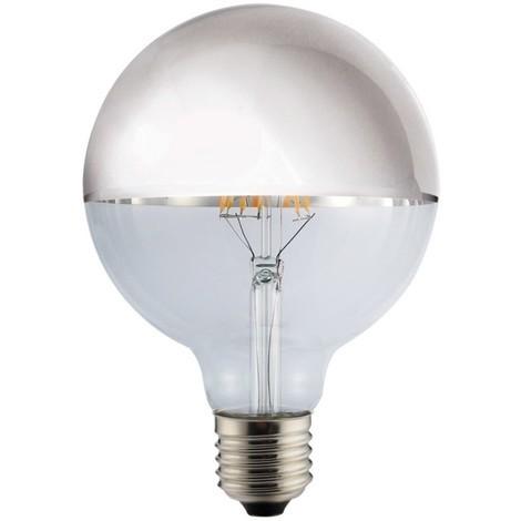 Bombilla LED Decorativa Globo Espejo Plata (8W)