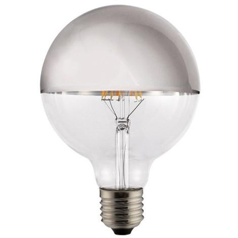 Bombilla LED decorativa globo Espejo Plata E27 (8W)