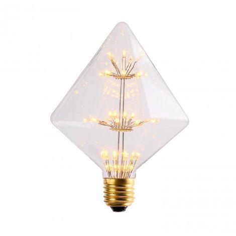 Bombilla LED Diamante 3W transparente luz cálida