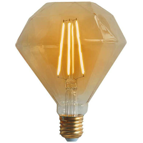 Bombilla LED Diamante E27 6W Equi.40W 500lm Vintage Regulable Gold 15000H