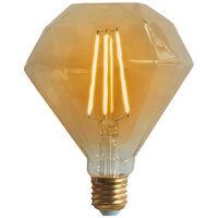 Bombilla LED Diamante E27 6W Equi.40W 500lm Vintage Regulable Gold 15000H