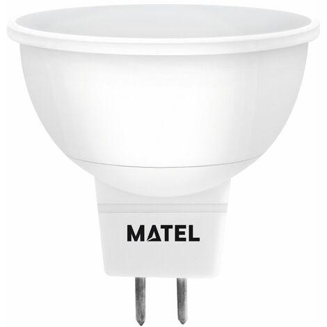 Bombilla LED dicroica 120 mr16 12 voltios 4w fría 400lm