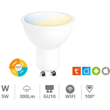 Bombilla led dicroica Wifi regulable 5W GU10