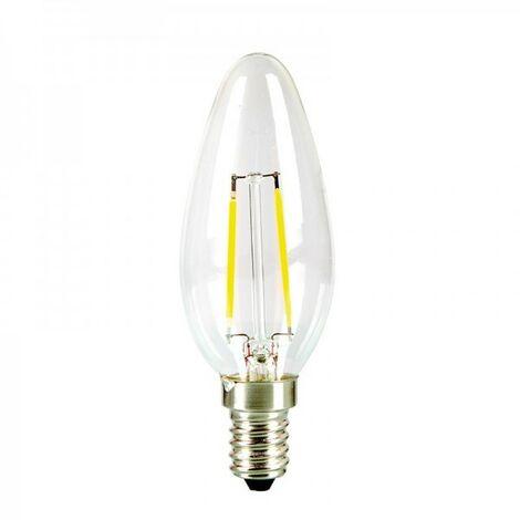 Bombilla LED E14 2.2W 250 lúmenes | Temperatura de color: Blanco cálido 2700K