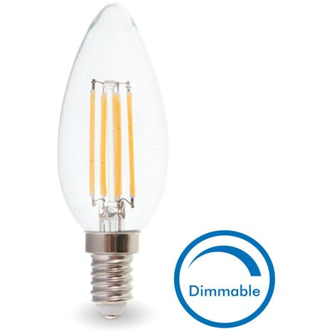 BOMBILLA LED E14 4W EQ 40W Regulable | Temperatura de color: Blanco cálido 2700K
