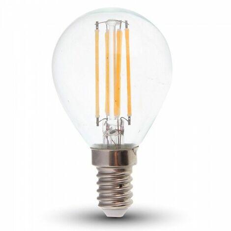 Bombilla LED E14 4W G45 (Pelota de golf) Eq 40W | Temperatura de color: Blanco cálido 2700K