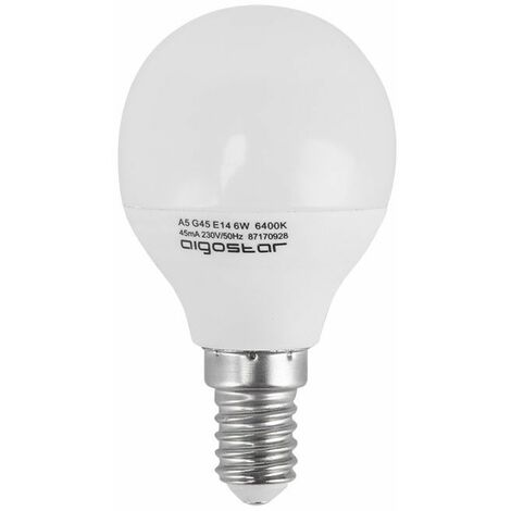 Bombilla LED E14 5W Eq 45W | Temperatura de color: Blanco frío 6400K