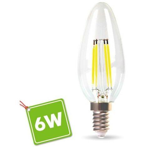 Bombilla LED E14 6W Eq 60W Filamento