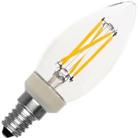 Bombilla LED E14 Casquillo Fino C35 Regulable Filamento Candle 3.5W Blanco Cálido 2700K