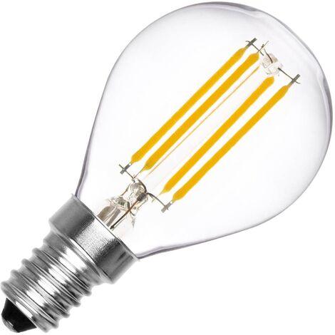 Bombilla LED E14 Casquillo Fino Filamento G45 4W Blanco Cálido 2000K - 2500K . - Blanco Cálido 2000K - 2500K