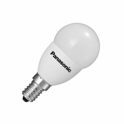 Bombilla LED E14 Casquillo Fino G45 PANASONIC PS Frost 3.5W Blanco Cálido 2700K