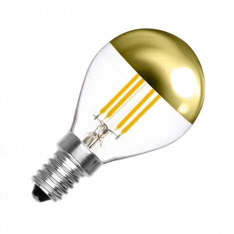 Bombilla LED E14 Casquillo Fino Regulable Filamento Gold Reflect G45 4W