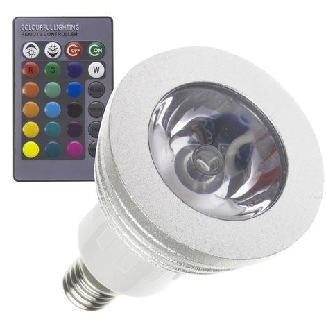 Bombilla LED E14 Casquillo Fino RGB 3W