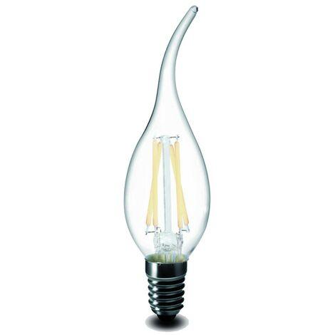 Bombilla LED E14 de 5W de blanco frío o llama blanca cálida