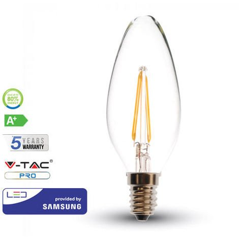 Bombilla LED E14 Filamento Samsung Vela C37 4W 2700K
