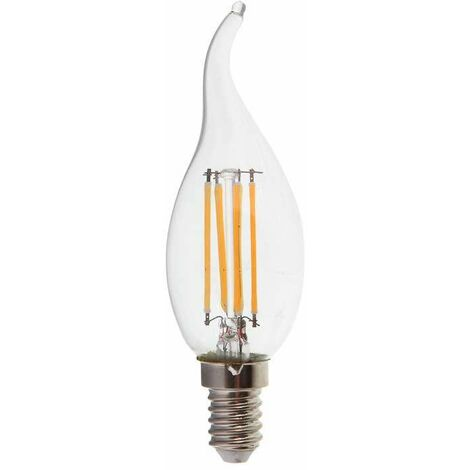 Bombilla LED E14 Filamento Samsung Vela efecto llama 4W 2700K 300°