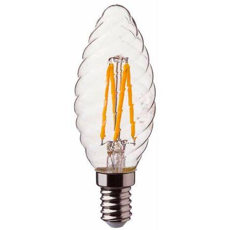 Bombilla LED E14 Filamento Samsung Vela Rizada C37 E14 4W 2700K 300°