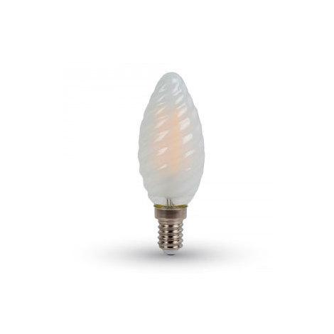 Bombilla led E14 Filamento vela rizada Frost Cover 4W 300°