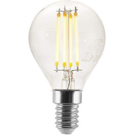 Bombilla LED E14 P45 4W 2.700K transparente
