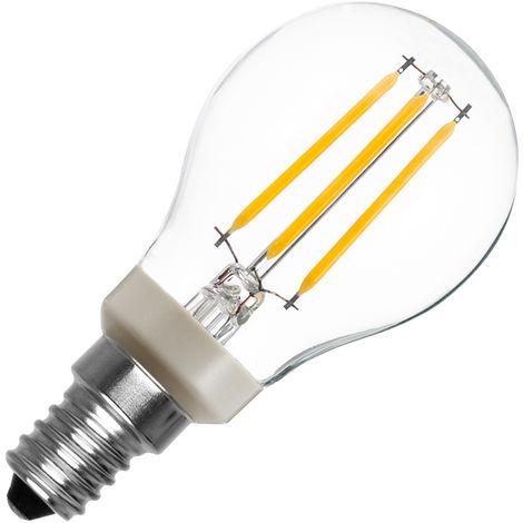 Bombilla LED E14 Casquillo Fino P45 Regulable Filamento Luster CLA 5W Blanco Cálido 2700K
