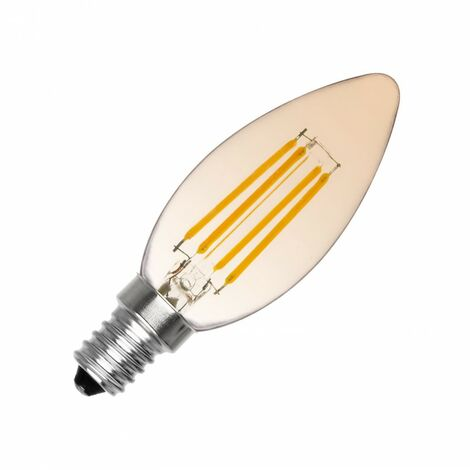Bombilla LED E14 Regulable Filamento Classic Gold C35 3.5W