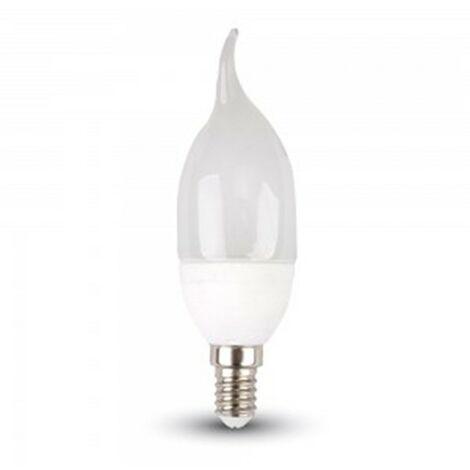 Bombilla led E14 vela efecto llama 6W 220° tapa blanca