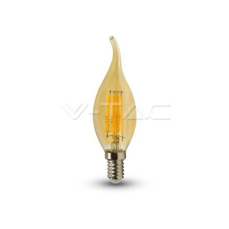 Bombilla Led E14 Vela Llama de Filamento 4W V-TAC VT-1949 350lm Luz Muy Calida 2200K