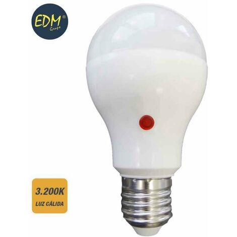 BOMBILLA LED E27 10W CON SENSOR 3200K LUZ CALIDA