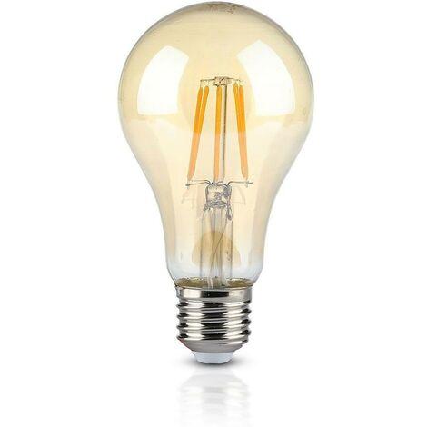 Bombilla LED E27 10W EQ 65W FILAMENT Vidrio ámbar