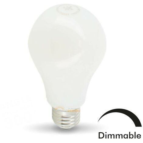 Bombilla LED E27 10W Eq 75W MAT Dimmable Glass