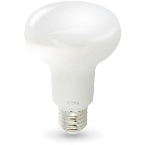 Bombilla LED E27 10W R80 Eq 70W | Temperatura de color: 4000K blanco neutro