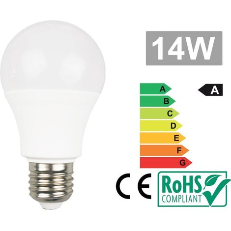 Bombilla Led E27 14W 3000K Blanco calido