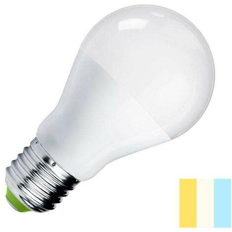 Bombilla LED E27, 240º, 9W, Blanco dual, 3000-4000-6000K - 3000-4000-6000K